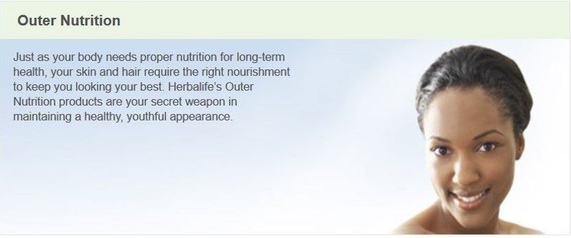 Herbalife Outer Nutrition Product Line